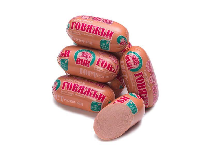 """Сардельки """"Говяжьи"""" ГОСТ (газ упаковка ~2,1 кг)"""